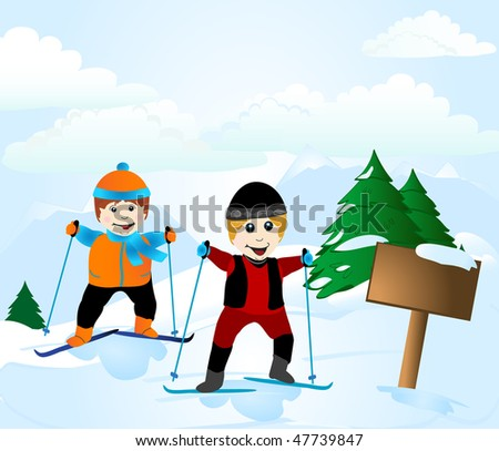 Learn nordic skiing for weight loss and exercise. The instructor demonstrates the importance of wearing layers to regulate body heat. - stock photo