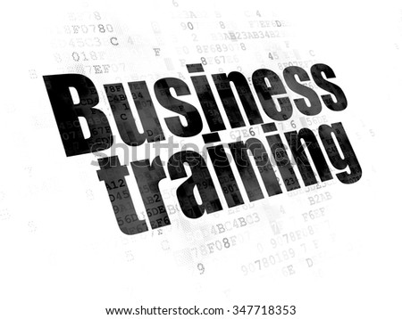 Learning concept: Pixelated black text Business Training on Digital background - stock photo