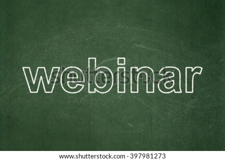Learning concept: text Webinar on Green chalkboard background - stock photo