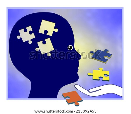 Learning Disorder. Child in need of educational aid to improve learning performance - stock photo