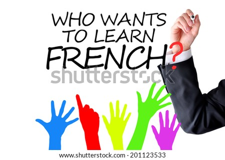 Learning French language concept - stock photo