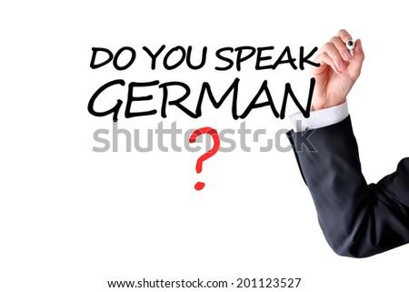 Learning german language - stock photo