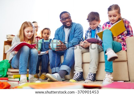 Learning in kindergarten - stock photo