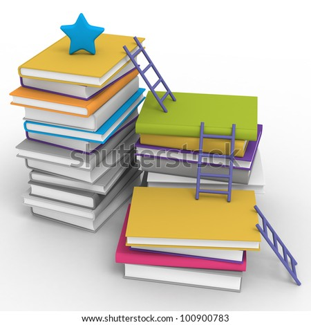 Learning step - stock photo