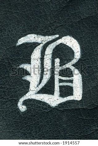 Leather B - stock photo