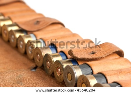 leather bandolier isolated on a white background - stock photo