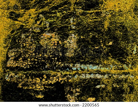Leather binding of a Bible in yellow texture - stock photo