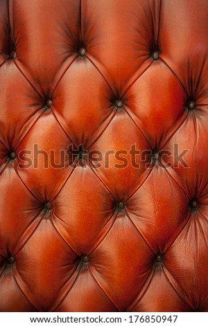 leather chesterfield Burgundy pattern vertical - stock photo