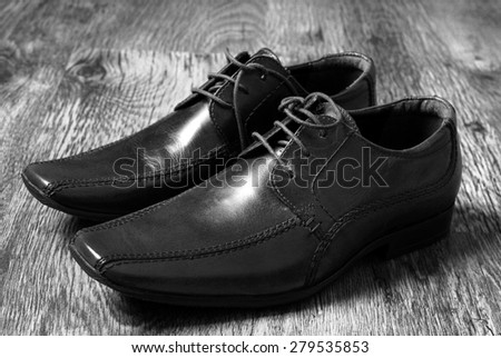 leather classic style  shoes - stock photo