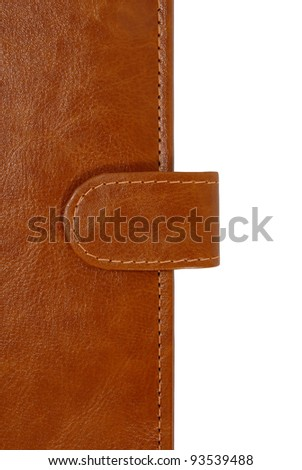 Leather cover with binder - stock photo