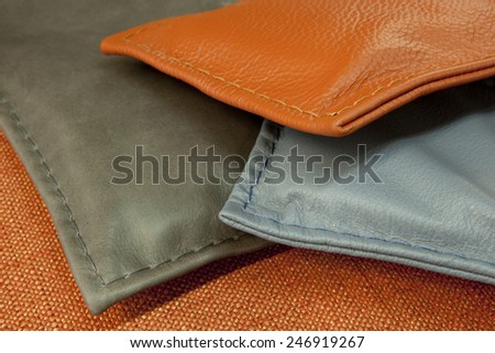 leather - detail - stock photo