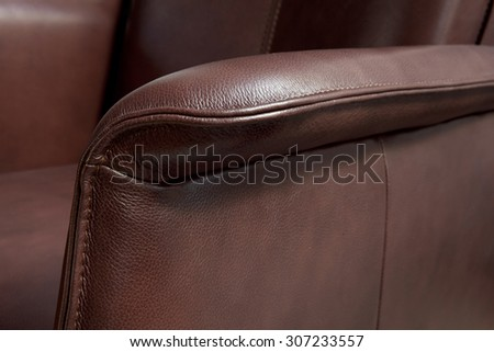 leather detail - stock photo