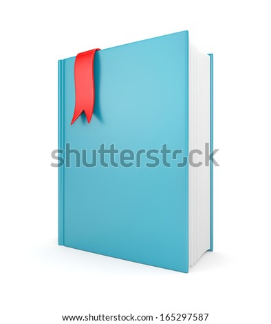 Leather diary with bookmark - stock photo