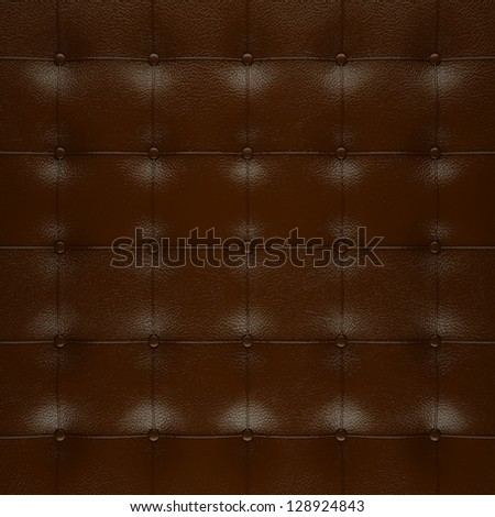 leather   in aggressive style and polished - stock photo