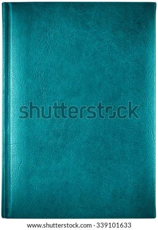 Leather notebook isolated on white background - stock photo