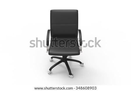 Leather Office Chair 07 - stock photo