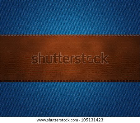 Leather on Jeans - stock photo