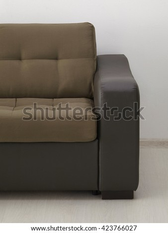 Leather sofa. Include clipping path - stock photo