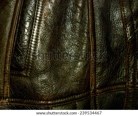 Leather texture. - stock photo
