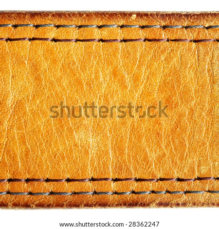 Leather texture, may be used as background - stock photo