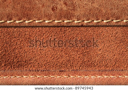 leather with seam  background. - stock photo