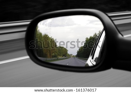 Leave the past - stock photo