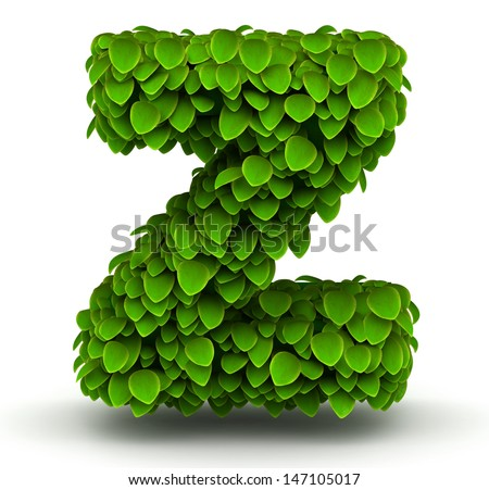 Z Alphabet In Rose Leaves alphabet font letter z