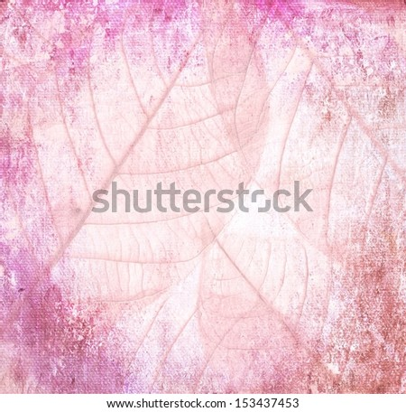 leaves of trees Grunge pink  background vintage abstract rusty colored background - stock photo