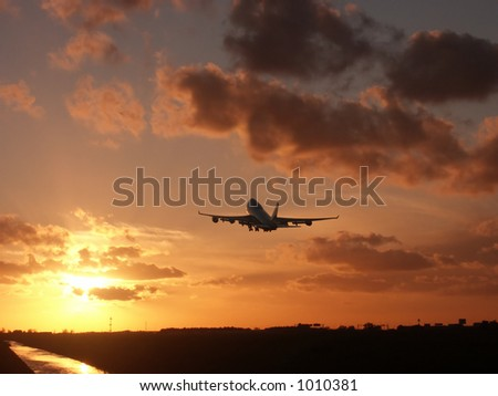 Leaving after sunset - stock photo