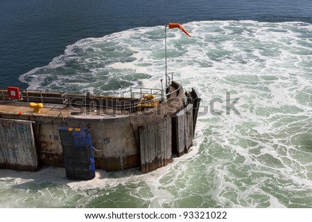 Leaving the Quay - stock photo