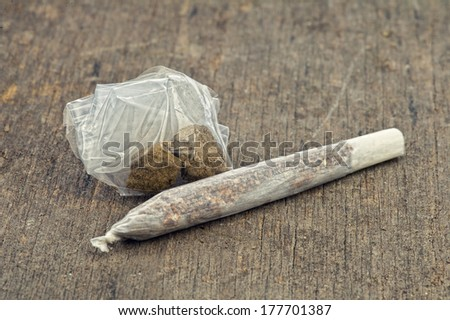 Lebanese Hash Joint Cigarette  - stock photo