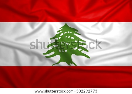 Lebanon national flag background texture. - stock photo