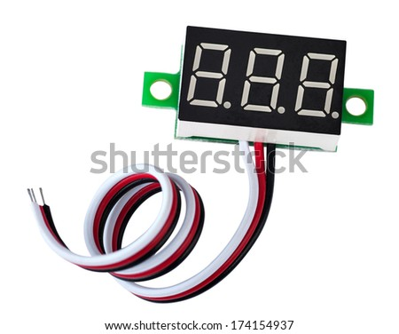 LED digital display - stock photo
