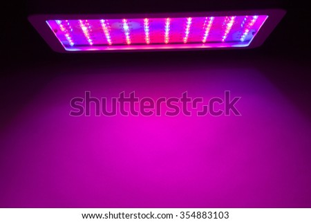 LED grow light copy-space background - stock photo