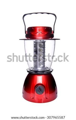 Led Illumination Lamp on over white background - stock photo