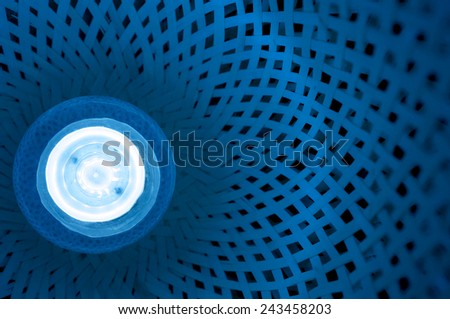 led lamps blue light blur science and technology background - stock photo
