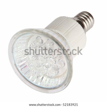 Led light bulb isolated on white background with clipping path - stock photo