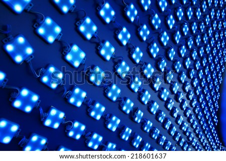LED lights outdoor matrix board - stock photo