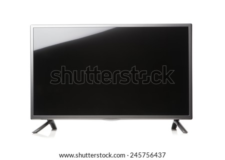 LED TV isolated on white - stock photo