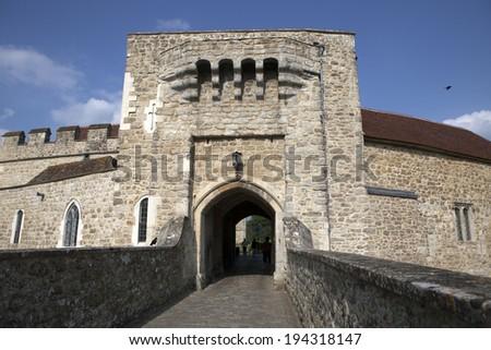 Leeds castle gate entrance, Kent, United Kingdom (UK) - stock photo