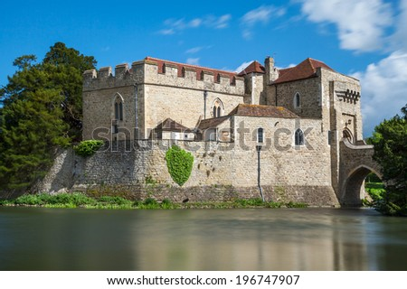 Leeds castle situated in the Kent region of England - stock photo