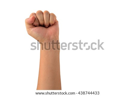 left side isolated Man fist  - stock photo