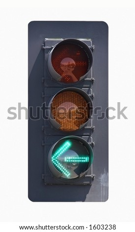 Left Turn Only - stock photo