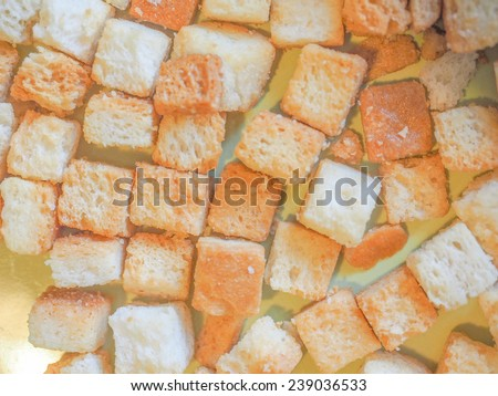 Leftover bread used in Ribollita Tuscan soup - stock photo