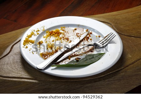 leftover food - stock photo