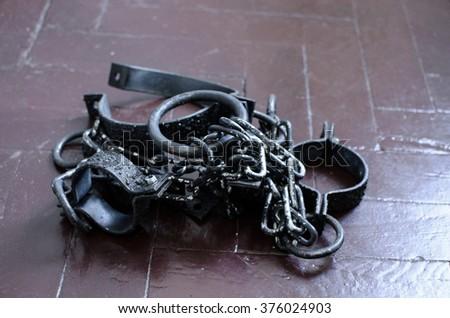 leg cuffs - stock photo