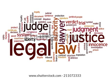 Legal concept word cloud background - stock photo