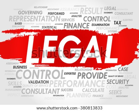 LEGAL word cloud, business concept - stock photo
