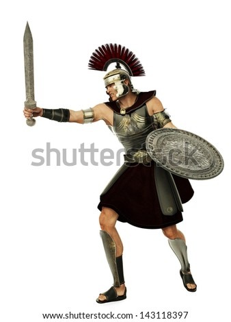 legendary soldier side attack - stock photo