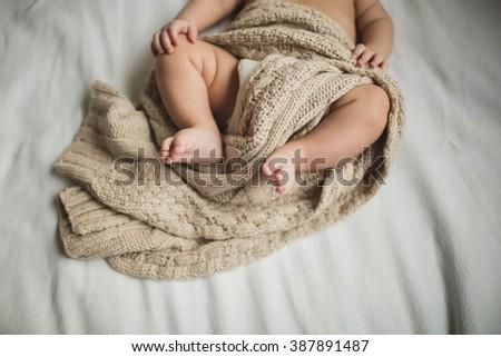 legs a little kid - stock photo